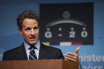 En la imagen, el secretario estadounidense del Tesoro, Timothy Geithner. EFE/Archivo