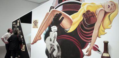Exposición de Richard Hamilton en el Museo Reina Sofia, en Madrid.