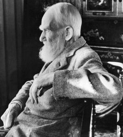 El pensador irlandés George Bernard Shaw.