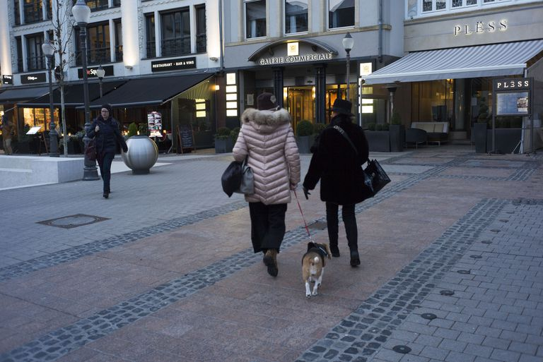 Passersby in the Luxembourg capital, last year.