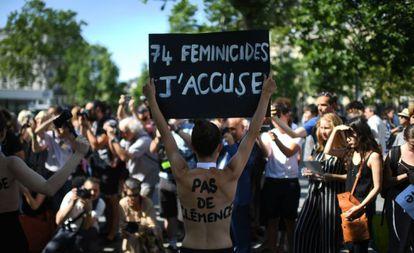 Manifestación el sábado en París contra la violencia machista