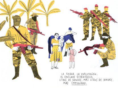 Ilustración del libro Viñetas de Vida