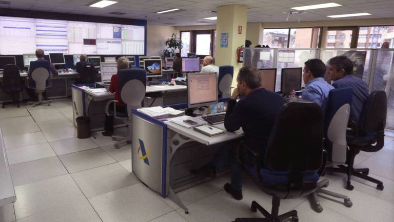Control center of the Tax Agency.
