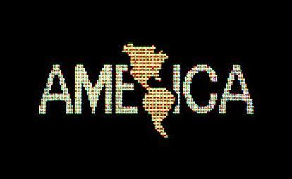 'A Logo for America' (1987), de Alfredo Jaar.