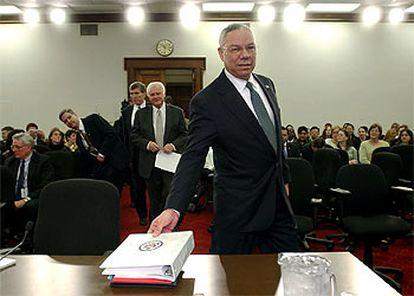 Powell, ayer en el Capitolio antes de comparecer ante una comisión económica de la Cámara de Representantes.