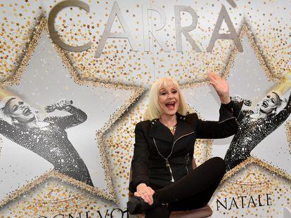 Raffaella Carrà, en la presentación de su album 'Ogni volta che e Natale', en 2018.