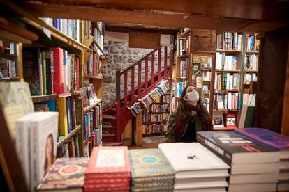 La librería Shakespeare and Company Bookshop, en noviembre de 2020, justo después de su reapertura tras el levantamiento de algunas medidas contra la covid.