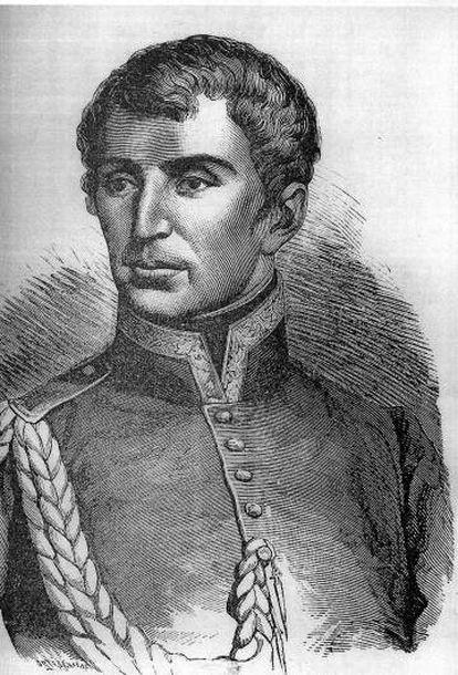El mariscal Rafael de Riego, líder liberal español del siglo XIX.
