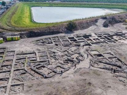 El yacimiento de En Esur, en el centro del país, muestra los restos de una de las poblaciones prehistóricas más grandes en Oriente Próximo