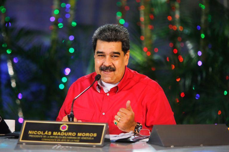 El presidente de Venezuela, Nicolás Maduro, durante una conferencia en Caracas.