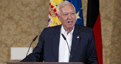 El ministro de Asuntos Exteriores, Jose Manuel Garcia-Margallo, en una imagen de ayer, en Palma de Mallorca.