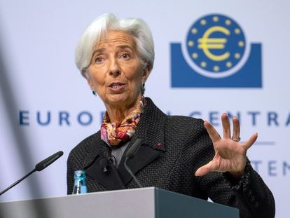 Christine Lagarde, presidenta del BCE, que estudia lanzar el euro digital a partir de 2026.
