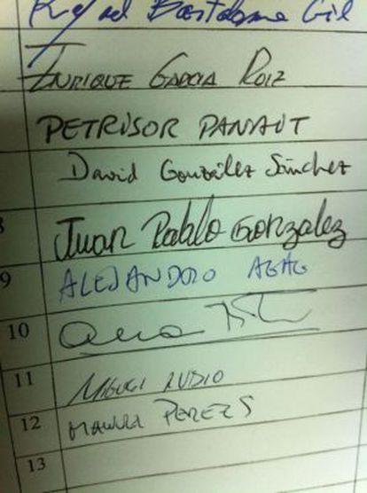 Ana Botella firmó en la casilla 10 y su yerno, Alejandro Agag, en la anterior.