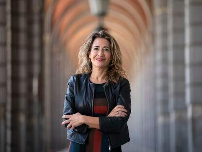 Raquel Sánchez, ministra de Transportes, Movilidad y Agenda Urbana, el pasado viernes en Madrid.