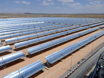 Centra termo solar de ciclo combinado en Ain Beni Mathar (Marruecos).