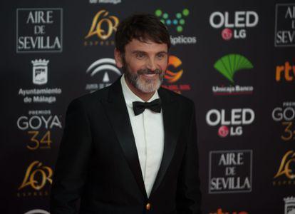 Fernando Tejero en los Goya 2020 en Málaga.