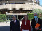 Luis Peral, exsenador; Lourdes Mendez, diputada; y José Eugenio Azpiroz, exdiputado, ante el TC CEDIDA A EUROPA PRESS 29/06/2021