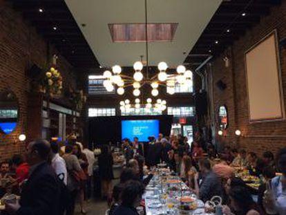 Presentación del proyecto entre Google y medios de comunicación internacionales, hoy, en Nueva York.