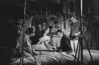 Rodaje de 'El gatopardo' de Luchino Visconti.