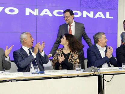 Mariano Rajoy a su llegada al comité ejecutivo nacional.