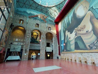 Captura de la nueva web de visita virtual del Museo Dalí de Figueres.