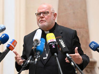 El cardenal Marx, en una conferencia de prensa en Múnich la semana pasada.