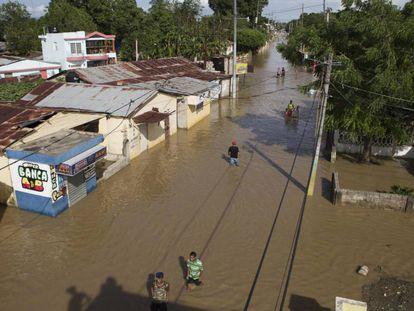 Inundaciones en en Arenoso (República Dominicana) por el huracán María.