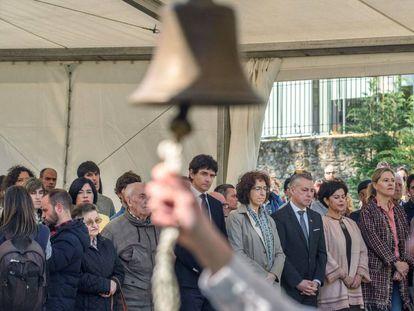 El lehendakari Urkullu y otras autoridades asisten hoy en Durango al acto de recuerdo a las víctimas del bombardeo de 1937.