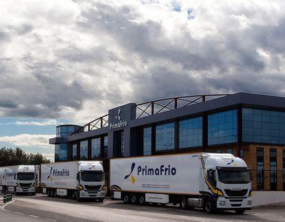 Camiones de Primafrio.