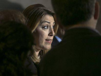 La presidenta de Andalucía, Susana Díaz, este viernes en Barcelona.