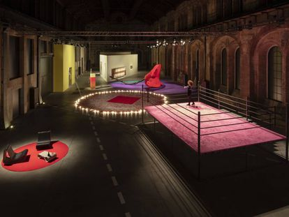 La muestra de Jessica Stockholder  en Turín con obras de la Fundació La Caixa.