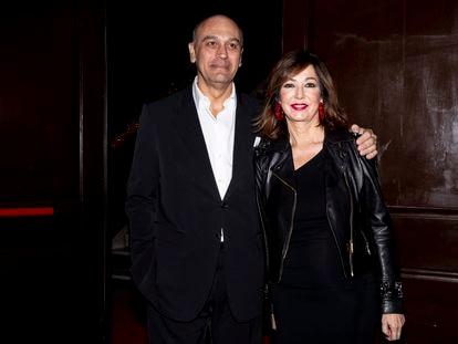 Juan Muñoz y Ana Rosa Quintana, en un evento en Madrid en noviembre de 2019.