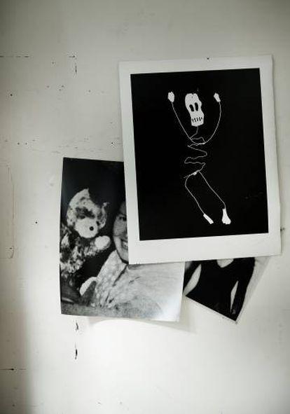 Uno de los dibujos preparatorios para la obra 'Théâtre d'ombres' (1984), de Christian Boltanski.
