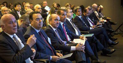 Luis de Guindos en el foro sobre Latinoamérica, España y EE UU organizado por EL PAÍS en Nueva York.