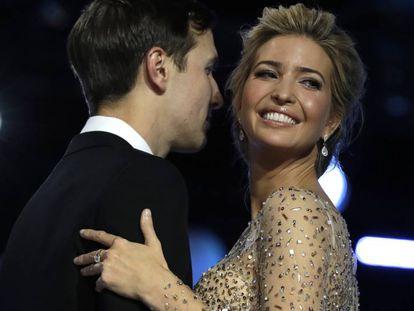 Ivanka Trump y su esposo, Jared Kushner, durante el Freedom Ball, en Washington, el pasado 20 de enero.
