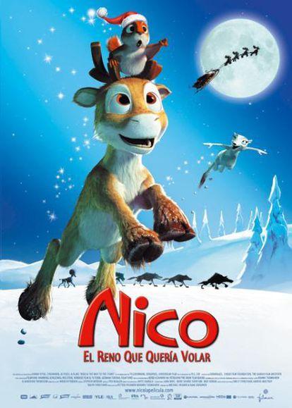 Cartel de Nico, el reno que quería volar