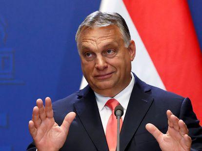 El primer ministro húngaro, VIiktor Orbán, en una rueda de prensa en Budapest, a mediados de mes.