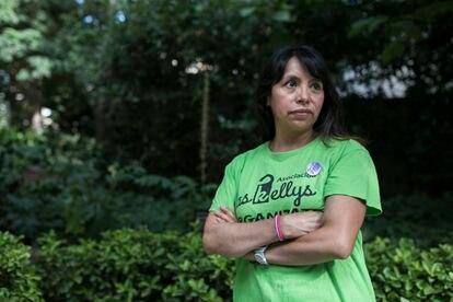 Míriam, miembro del sindicato de trabajadoras de limpieza de hoteles Las Kellys.