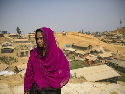 Refugiada rohingya en el campo de Cox's Bazar, en Bangladesh.