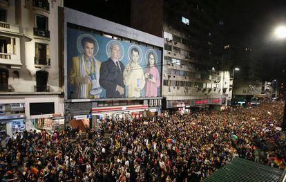 Miles de personas participan en Montevideo de la Marcha por la Diversidad, el 29 de septiembre pasado.