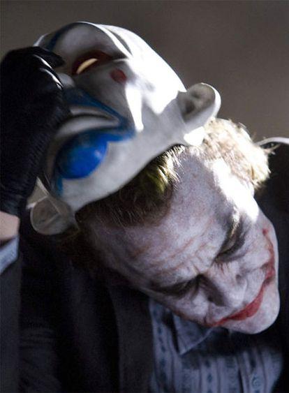Heath Ledger en el filme <i>El caballero oscuro</i>.
