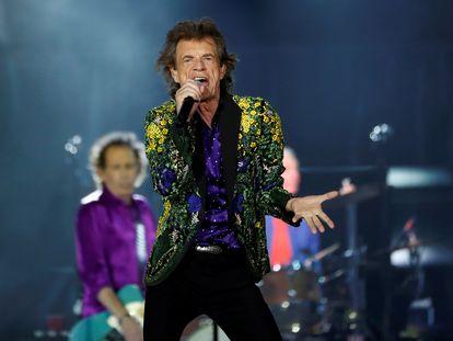 Mick Jagger, en un concierto de los Rolling Stones en Pasadena, California, en agosto de 2019.