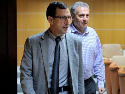 Gervasio Gabirondo este miércoles en el Parlamento vasco.