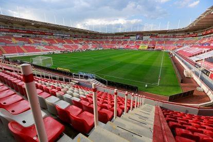 El estadio Necaxa, en Aguascalientes, vacío durante la sexta jornada del torneo Guardianes 2020 en agosto.