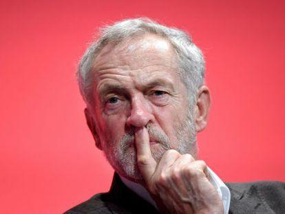 Corbyn, este domingo en el congreso de los laboristas.