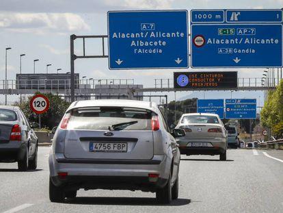 Tramo de la AP-7 cerca de Alicante.