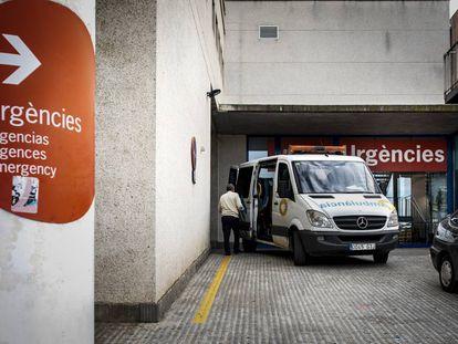 Entrada d'urgències a l'Hospital de Palamós