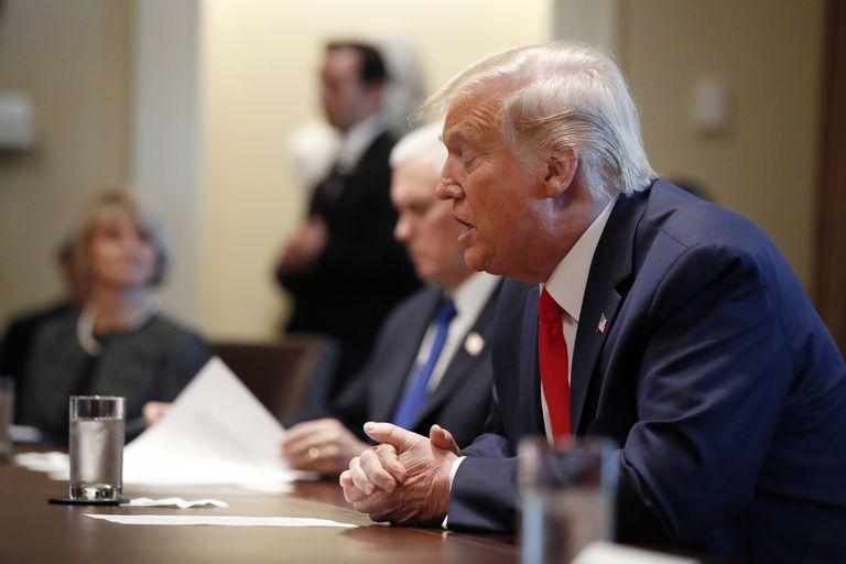 Donald Trump, este miércoles en Washington.