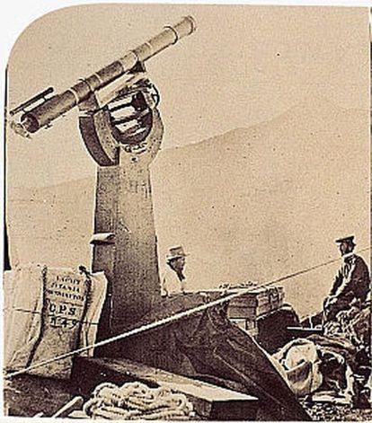 Parte del equipo de Piazzi Smyth instalado en las Cañadas del Teide.