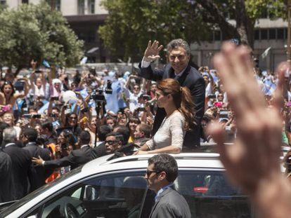 Macri, por las calles de Buenos Aires tras la investidura